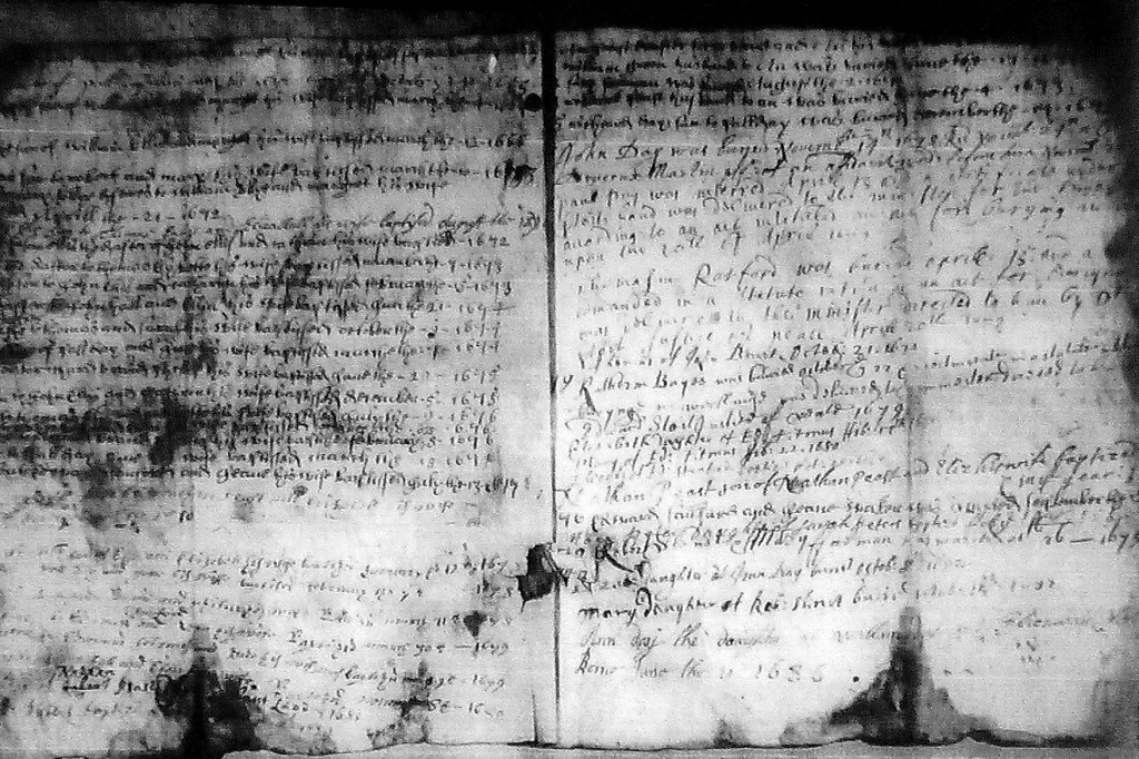 17th century parish records