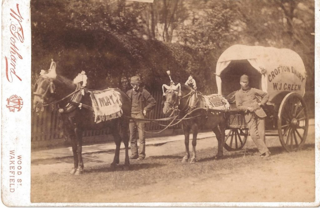 Crofton Dairy in Yorkshire was owned by W J Green. This image dates from about 1875 © D Green